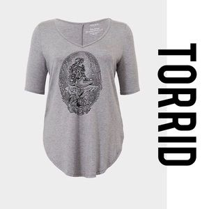 Torrid Mermaid V Neck Tee 2X